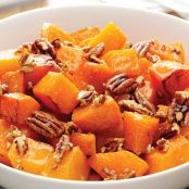 Roasted Butternut Squash with Pecan Ginger Glaze