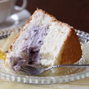 Angel Food Cake with Blueberry Filling