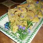 Focaccia Flatbread with Onions and Rosemary