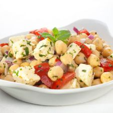 Chickpea, Tomato and Feta Salad
