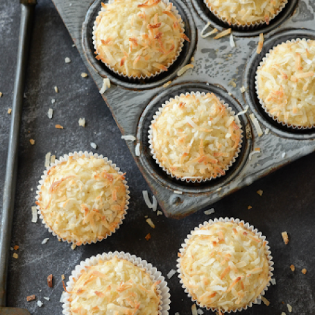 Coconut Banana Crunch Muffins