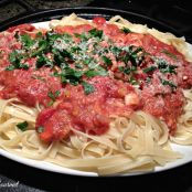 """Light"" Bolognese Sauce with Fettuccine"
