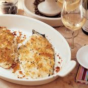 Baked Flounder with Parmesan Crumbs