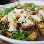Roast Chicken over Baby Arugula Salad (Barefoot)