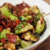 Caramelized Brussel Sprouts with Bacon