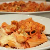 Baked Rigatoni with Roasted Cauliflower in a Spicy Pink Sauce