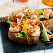 Grilled Shrimp, Peppers and Clementine Panino Recipe