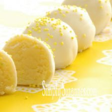 Lemon Cake Batter Truffles