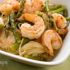 Angel Hair with Shrimp and Asparagus - Dairy Free