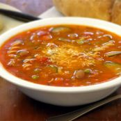 MINESTRONE WITH TURKEY SOUP