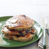 Blueberry Flax Buttermilk Pancakes