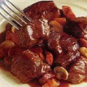 Slow cooked French beef burgundy