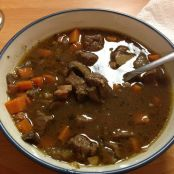 Beef Stew with Mushrooms, Onions, Carrots