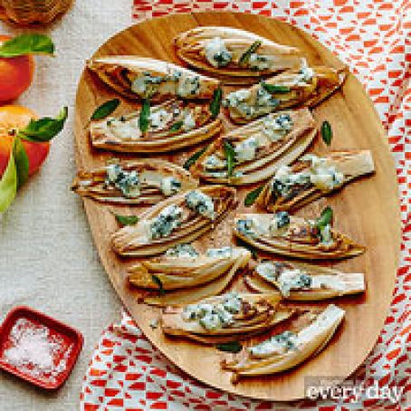 Roasted Endive with Gorgonzola & Sage Oil