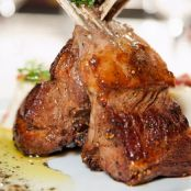 Grilled Rack of Lamb with Honey–Pasilla Glaze