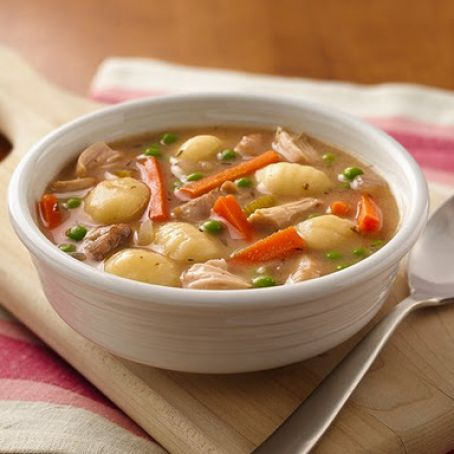 Slow CookerChicken and Gnocchi Soup