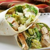 Chicken Caesar Salad Lunch Wraps