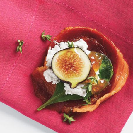 Pancetta Crisps with Goat Cheese and Figs