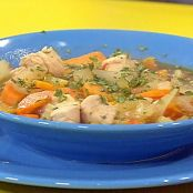 smoky sweet potato chicken stoup