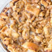 Apple Fritter Cinnamon Roll Bake