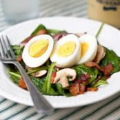 Spinach Salad with Warm Bacon Vinagirette