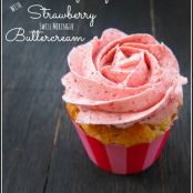 Strawberry Cupcakes With Strawberry Merinque Buttercream
