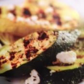 Grilled Zucchini with Rosemary and Feta