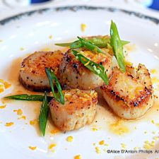 Meyer Lemon Pan Grilled Scallops