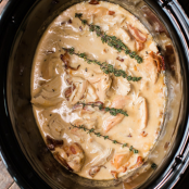 Slow Cooker Chicken with Bacon Gravy