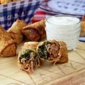 Pulled Pork and Collard Green Egg Rolls