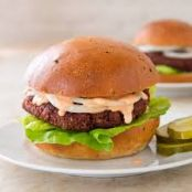 Beet Burger with Citrus-Caper Aioli