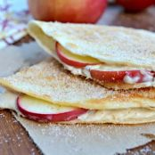 Apple Cheesecake Breakfast Quesadilla