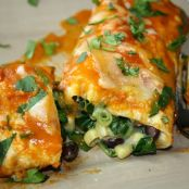 Black Bean Spinach Enchiladas