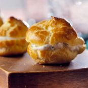 Mini Puffs with Goat Cheese & Herbs