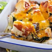 French Bread Strata with Spinach and Cheese
