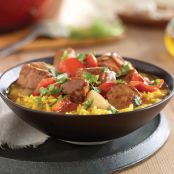 Spanish Pork & Fennel Stew with Saffron Rice