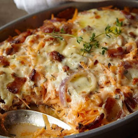 Chicken, Sweet Potato and Bacon Casserole