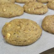 White Chocolate Cranberry Pistachio Cookies