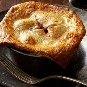Beef Pot Pies with Cheddar-Stout Crust