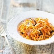 Sweet Potato Pasta - Figs, Prosciutto & Goat Cheese