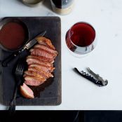 Seared Duck with Date Jus and Piave Foam