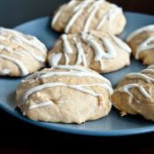Pumpkin Cheesecake Cookies with a Maple Cream Cheese Glaze