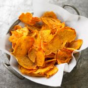 Spicy Sweet Potato Chips (Not My Mama's Meals)