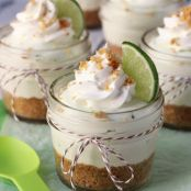 No Bake Key Lime Cheesecake in a Jar