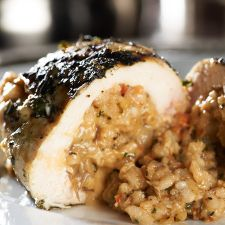Risotto-Stuffed Grilled Chicken Breasts