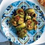 Roasted Brussel Sprouts With Walnuts & Dates