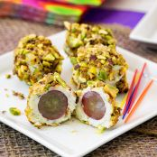 Blue Cheese Grapes with Spicy, Toasted Pistachios