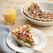 Mushroom, Gruyere, and Spinach Quiche