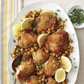 Roast Chicken With Chickpeas
