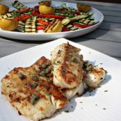 Pan-Seared Cod With Grilled Veggies